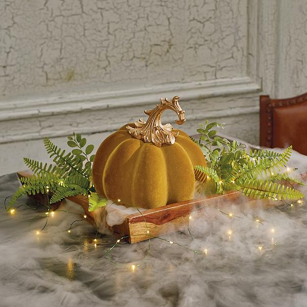 Calabazas de Halloween de terciopelo