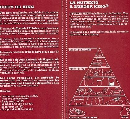 La dieta de Burger King bajo análisis