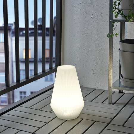 Solvinden Led Solar Powered Floor Lamp Outdoor Plastic White 0759917 Pe750547 S5