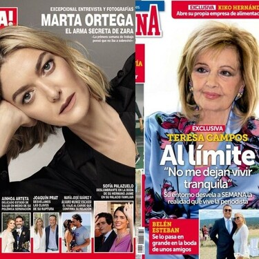 Marta Ortega rompe por fin su silencio y Terelu Campos en la playa como la señora del butano: estas son las portadas de la semana del 15 de septiembre