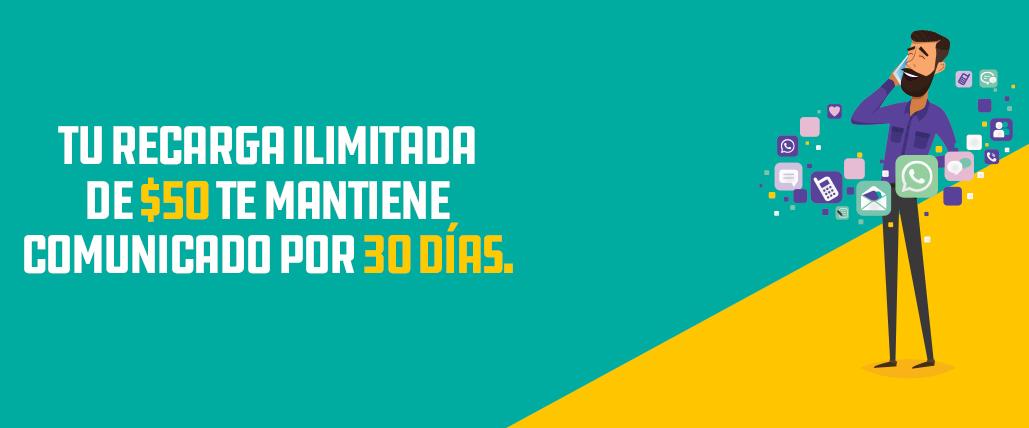 Segundo Aire Para Unefon Ilimitado Las Recargas De 50 70 Y 100