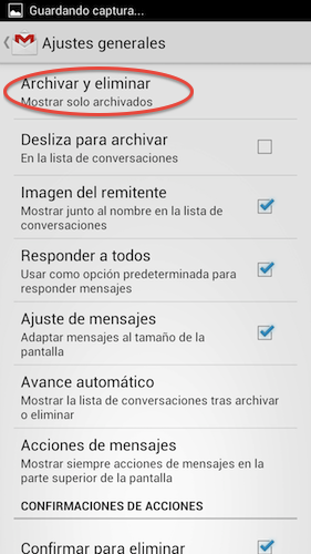 Archivar y eliminar