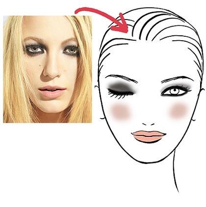 maquillaje de Blake Lively
