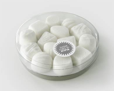 Terrones de azúcar con forma de bombones