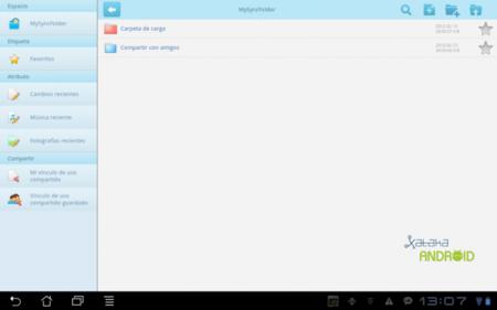 interfaz tablet asus webstorage