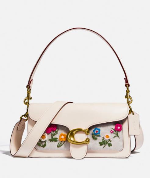 Bolso Coach de piel con estampado de flores