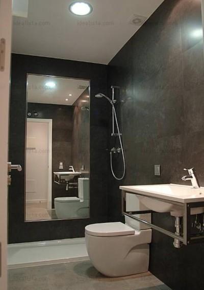 espejo dentro de la ducha