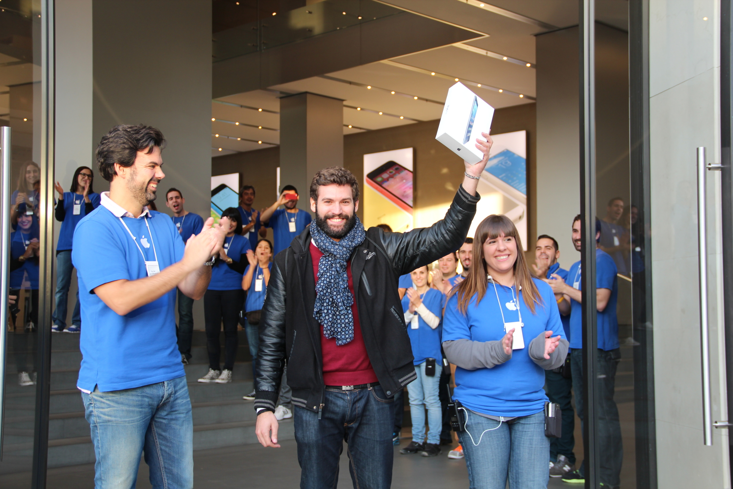 Lanzamiento del iPad Air en Barcelona