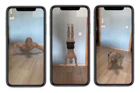 Con esta aplicación para iPhone puedes entrenar en casa y ver los ejercicios en realidad aumentada