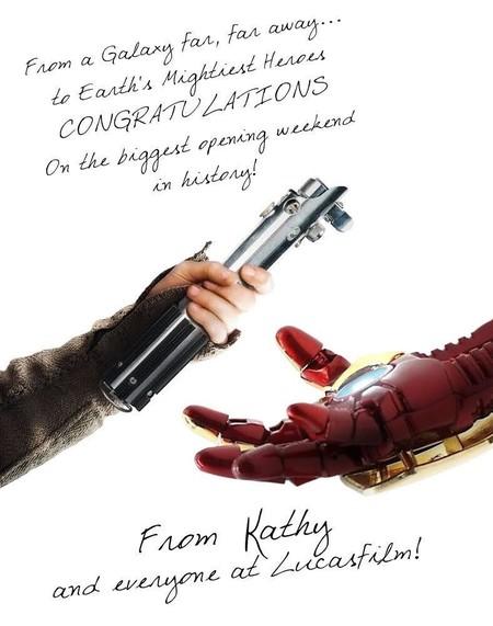 La felicitación de Lucasfilm a Marvel por el récord