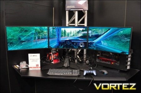 XFX presenta su soporte para tres monitores y AMD Eyefinity