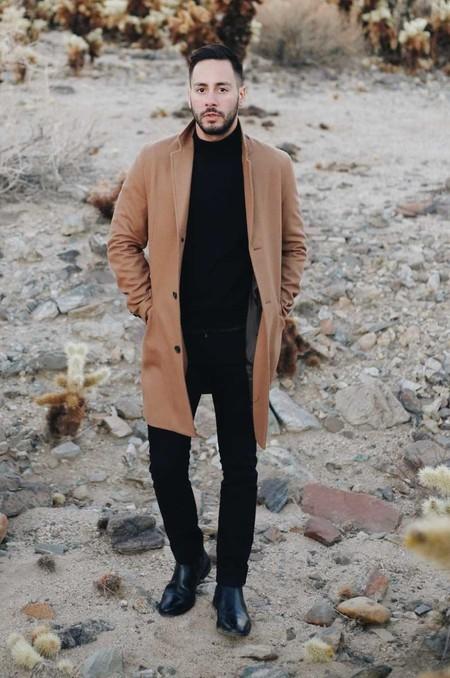 Combinacion Look Abrigo Camel Jeans Vaqueros Tendencia Trendencias Hombre Otono Invierno 2018 06