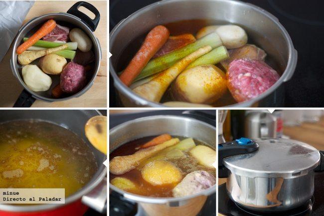 Cocido rápido, fácil y económico - elaboración