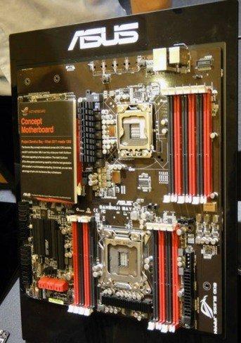 El extraño híbrido de placa base biprocesador de Asus