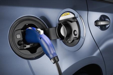 Enchufe Toyota Prius Plug-in azul