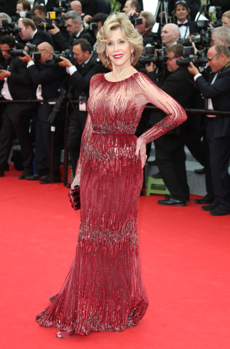 Jane Fonda. La alfombra roja del Festival de Cannes (primer día)