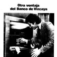 Anuncio cajero automático Banco de Vizcaya 1975