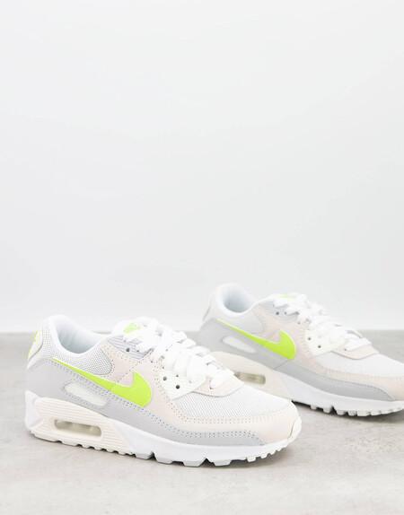 Zapatillas Blancas Y Limon Pastel Air Max 90 De Nike