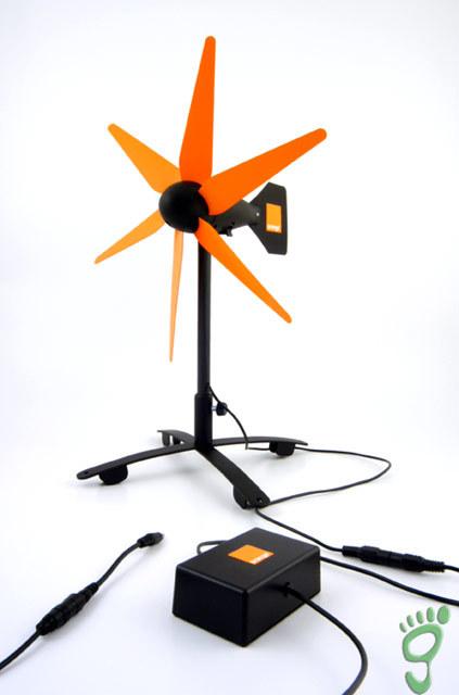 Cargador eólico para móviles