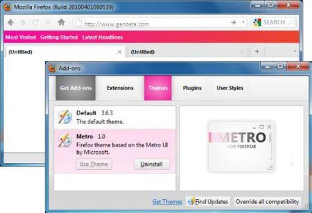 Viste a tu Firefox con Metro, la interfaz de Windows Phone 7