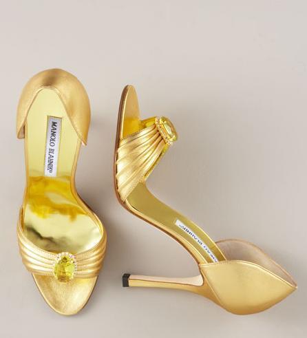 Nuevos zapatos de Manolo Blahnik Metallic d'Orsay
