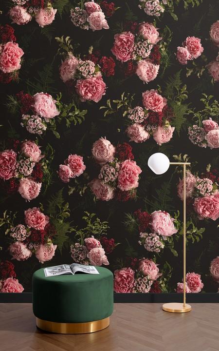 Papel Pintado Fotografico Bouquet De Flores Grandes Rosa Lifestyle Image