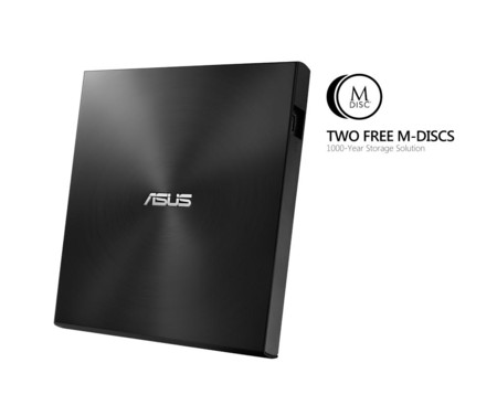 ASUS dice que su unidad óptica ZenDrive U7M protege datos en DVDs por más de 1000 años