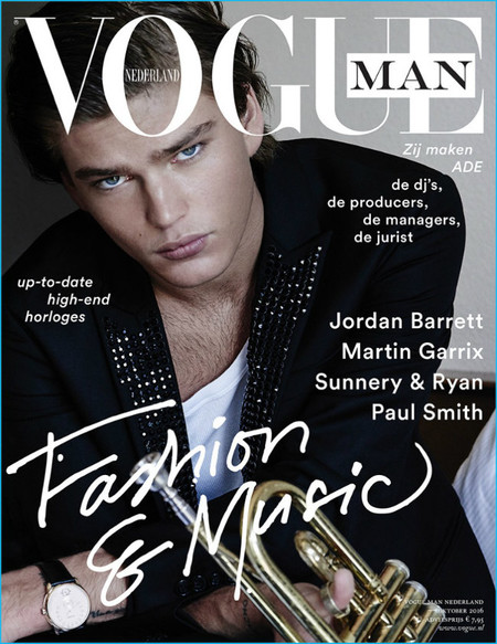 Jordan Barrett 2016 Photo Shoot Vogue Man Netherlands 002