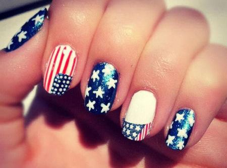 """""""USA flag Nail Art"""", para celebrar la reelección de Barack Obama aplaudiendo a dos manos"""