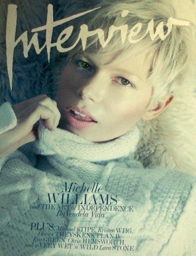 Michelle Williams, reina de las nieves para la revista Interview