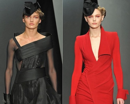 Donna Karan nos propone sombras rojizas y tocados en el pelo para el próximo Otoño-Invierno 2012/2013