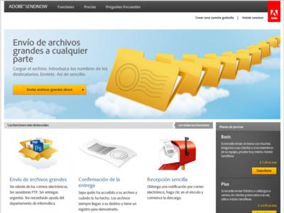 Adobe SendNow, envía archivos grandes a varias personas