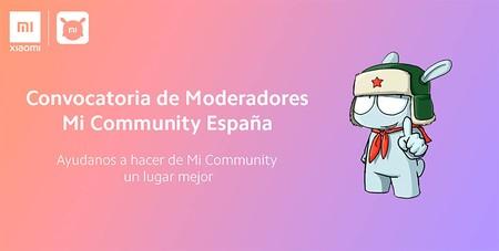 Convocatoria Moderadores Comunidad Xiaomi España