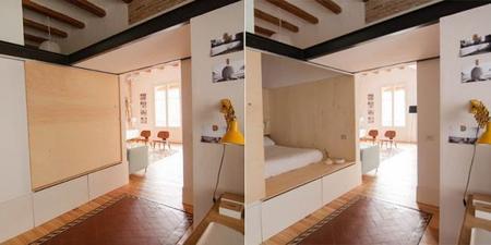 Acogedor loft de madera en Barcelona