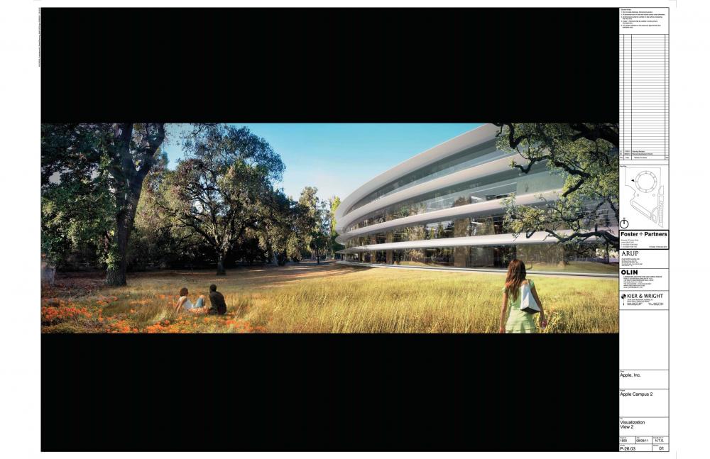 Foto de Proyecto original del nuevo campus de Apple (13/27)