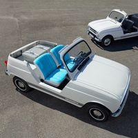 """Este Renault e-Plein Air es un coche eléctrico de aspecto retro, en homenaje al mítico """"cuatro latas"""" playero"""