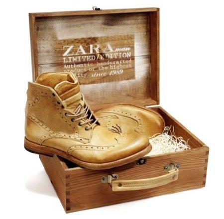 Botines de piel en edición limitada en Zara