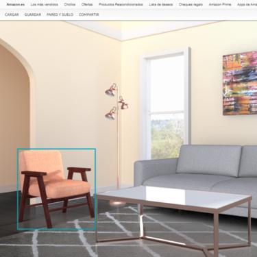 Amazon lanza 'Showroom', una sala de estar virtual para mejorar la experiencia de compra de muebles online