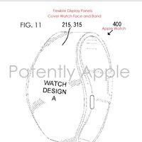 Una patente nos muestra cómo la pantalla del Apple Watch podría extenderse hacia la correa