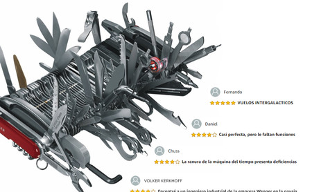 """""""Incluye una furgoneta de reparto como función"""": la navaja suiza de 11.000 euros más hilarante de Amazon"""