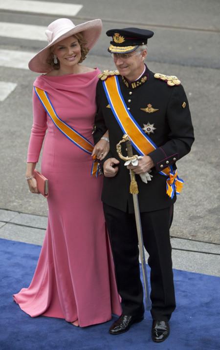 Matilde de Bélgica Holanda rey coronación