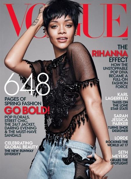 Rihanna se confiesa a la Vogue: ¿Quién dijo que ser guapa era fácil y poco sufrido?