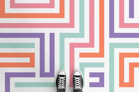 Una buena idea: suelos de colores alegres para animar el invierno gris
