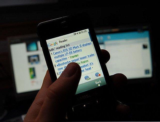 Google Reader en móviles