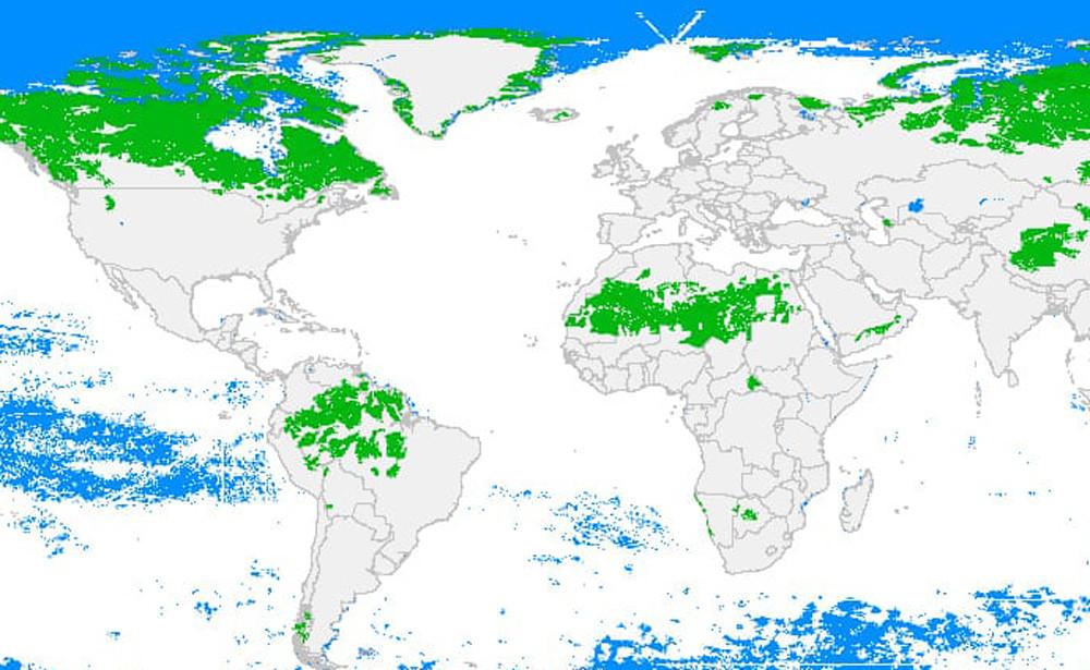 Los últimos espacios salvajes del planeta, explicados en este mapa