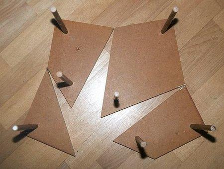 Mesa de centro rompecabezas