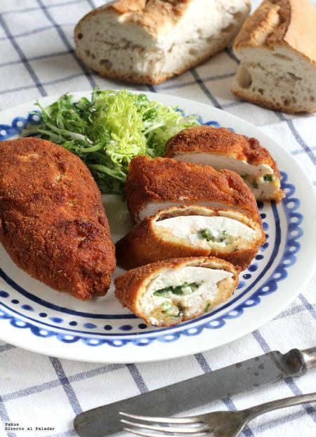 Pollo a la Kiev: receta de pollo relleno ideal para el aperitivo