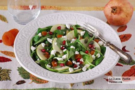 Ensalada de otoño ligera. Receta saludable