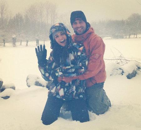 Paula Echevarría y David Bustamante, como niños en la nieve