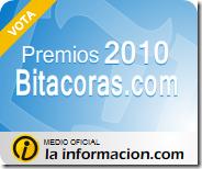 """Quinta (y última) Clasificación Parcial en """"Mejor Blog de Ciencia"""" de los Premios Bitácoras"""